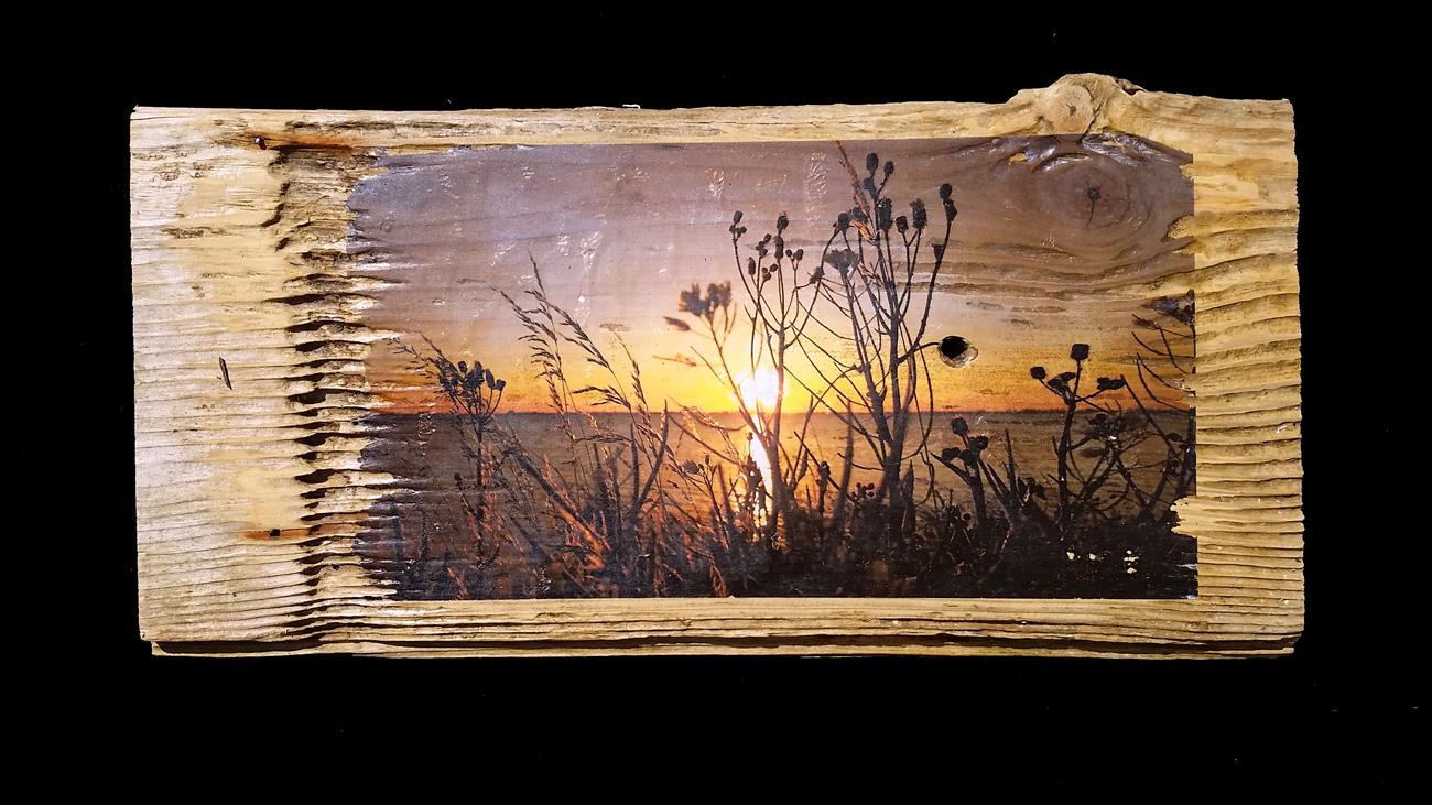Sonnenuntergang an der Ostsee – Fundort des Holzes: Ostfriesland