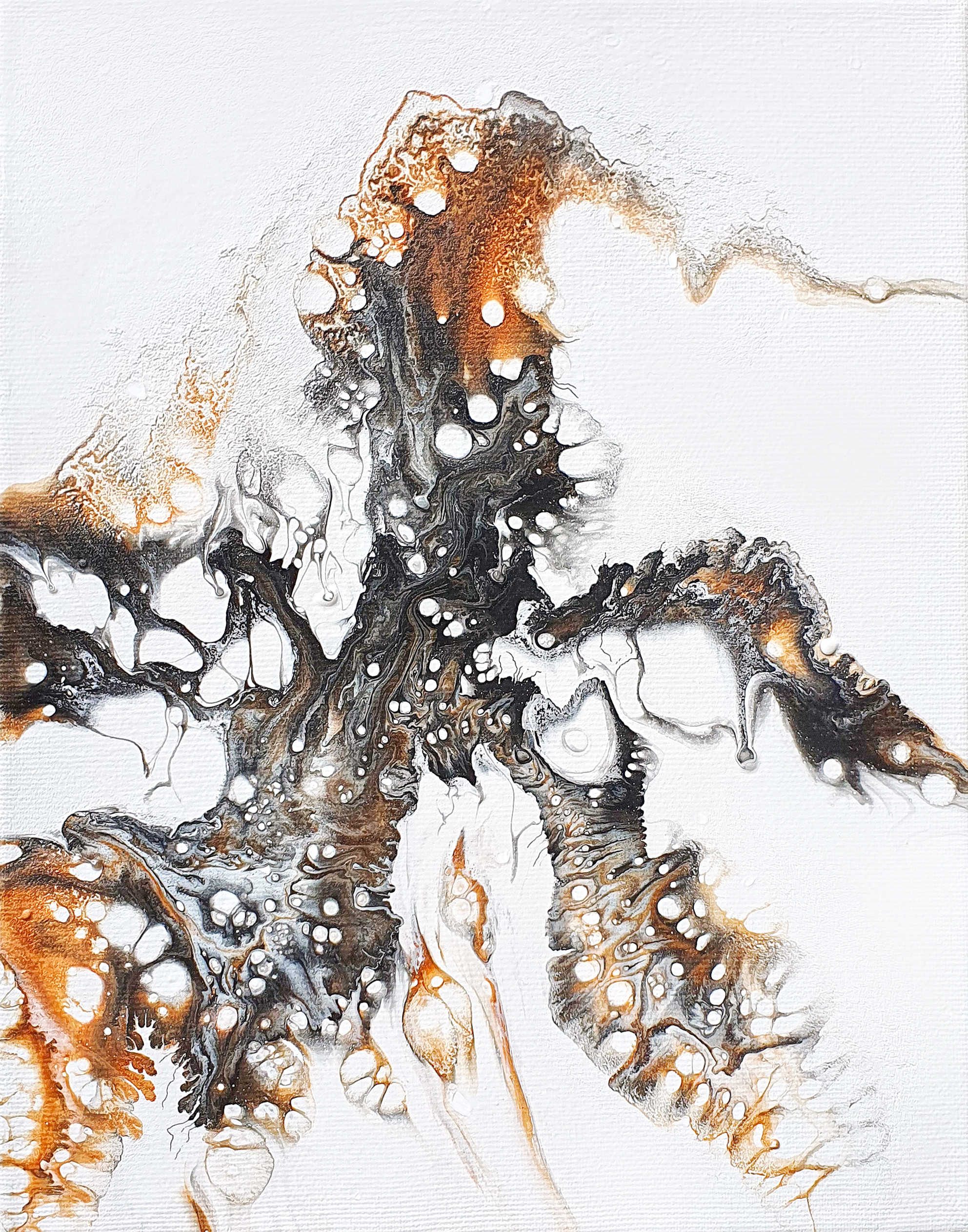 """""""Medusa"""", acrylic pouring by Calla Hueppe, Claudie Hamburg, Claudie Hüppe"""