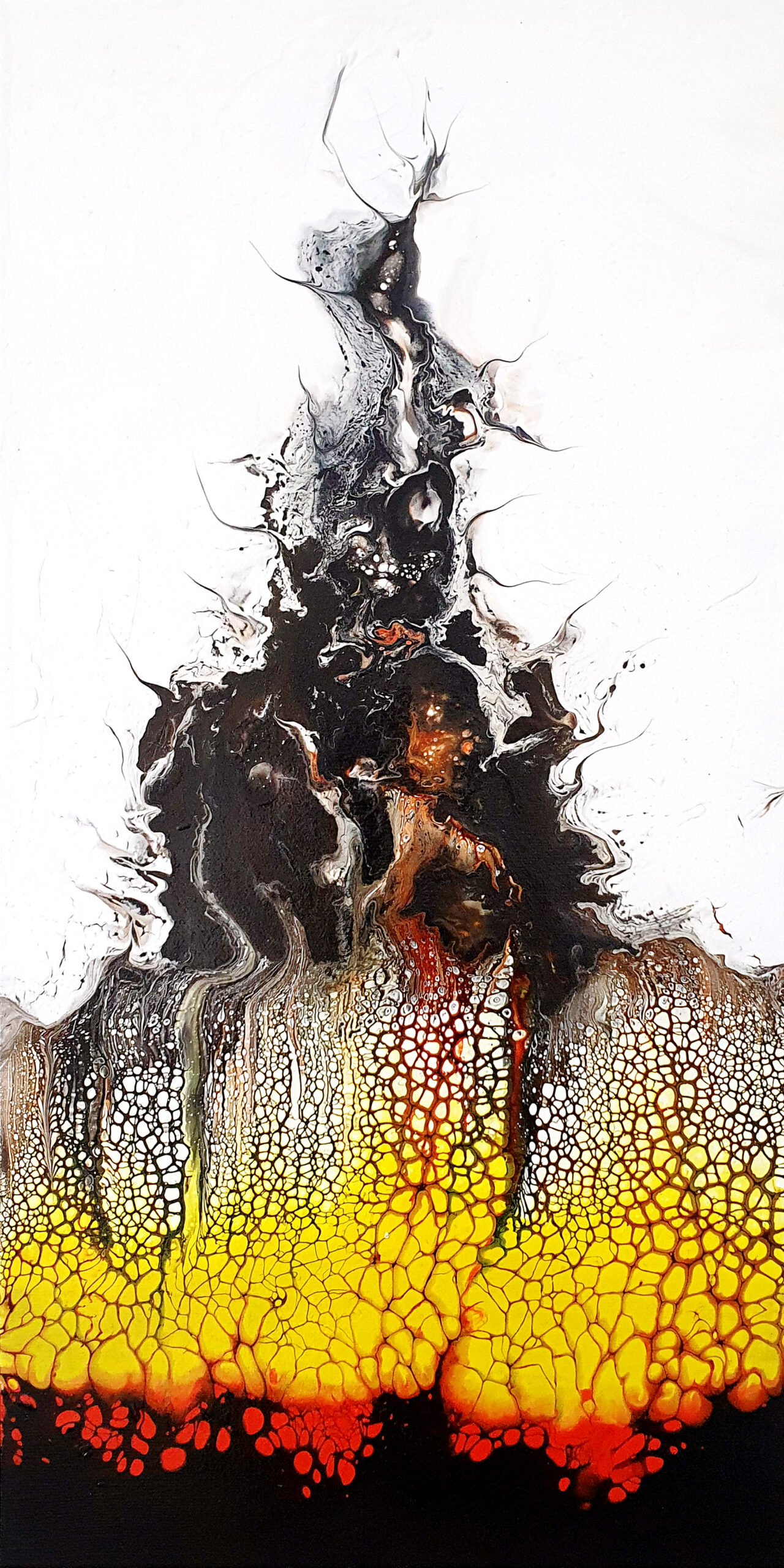 """""""Aufbruch"""", acrylic pouring by Calla Hueppe, Claudie Hamburg, Claudie Hüppe"""