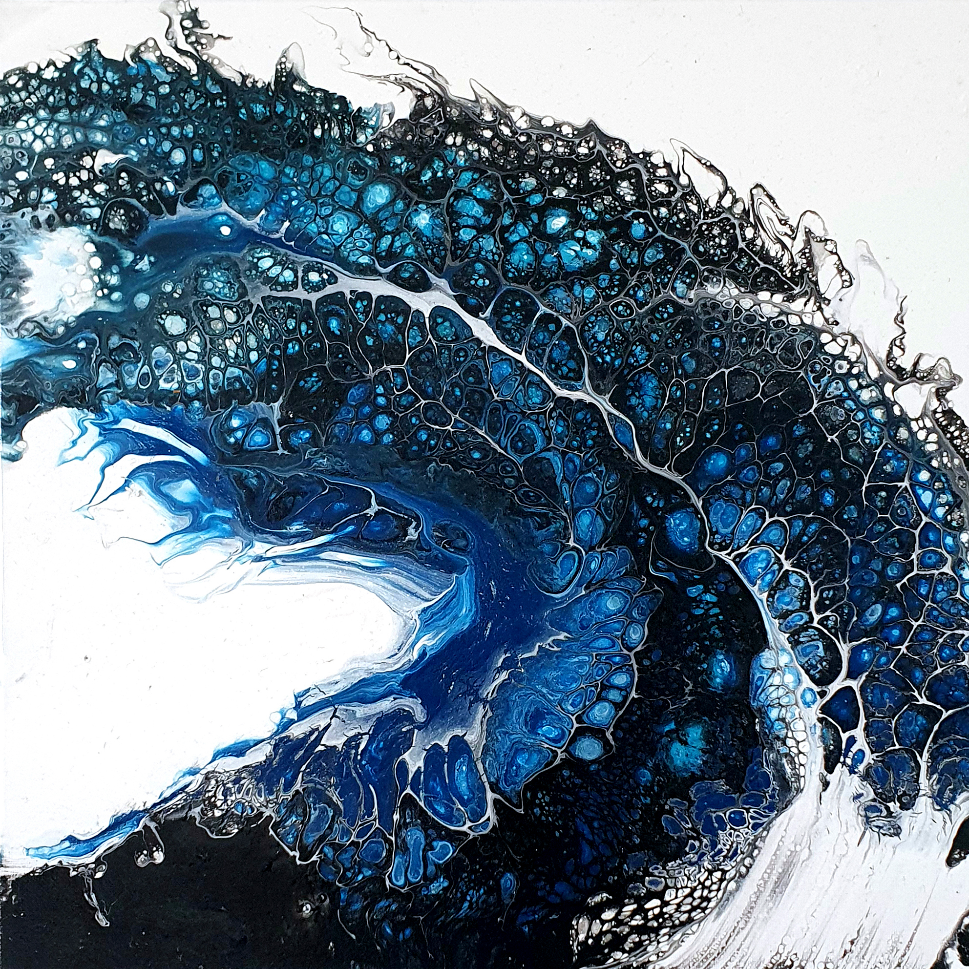 """""""big wave"""", acrylic pouring by Calla Hueppe, Claudie Hamburg, Claudie Hüppe"""