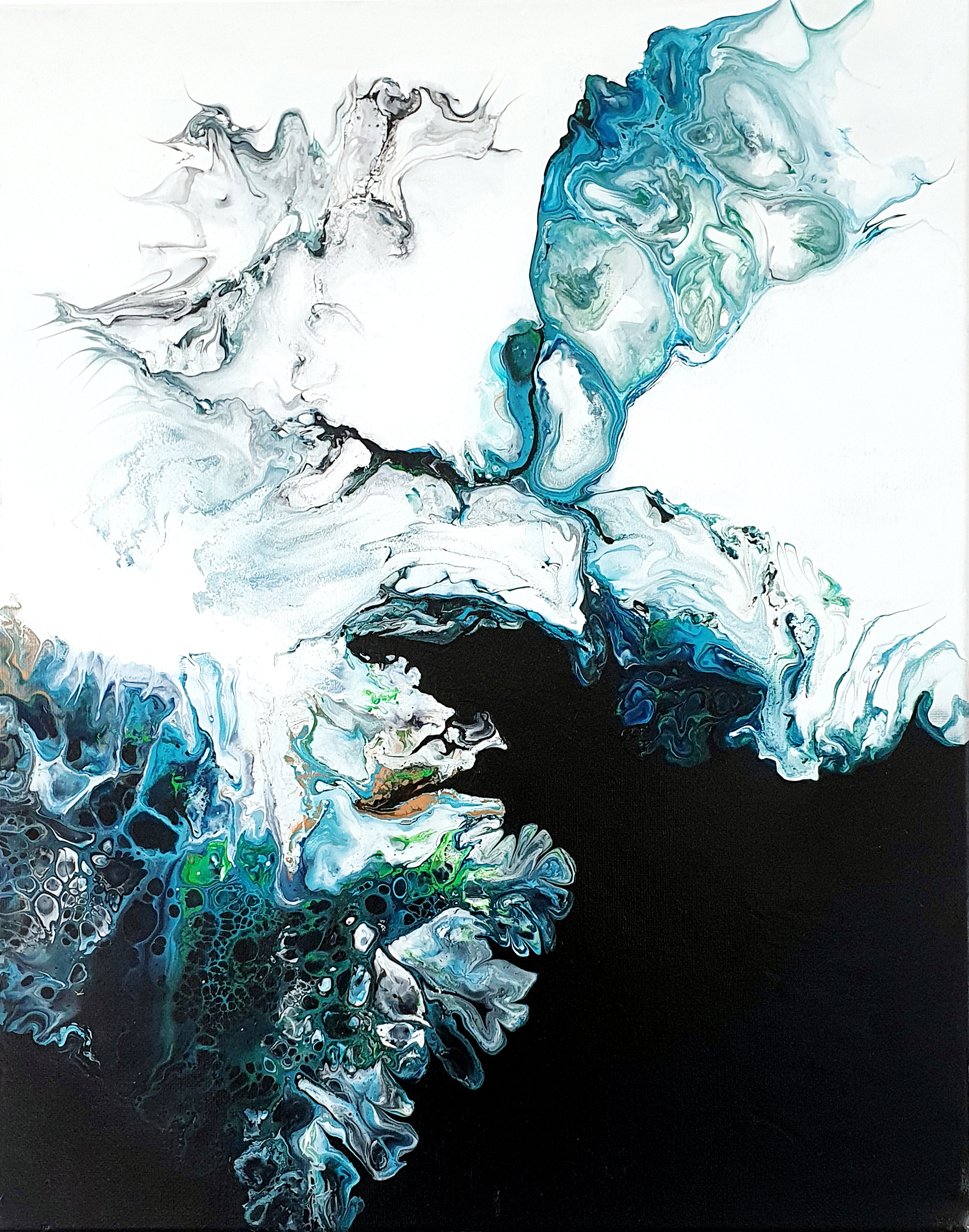 """""""wind"""" acrylic pouring by Calla Hueppe, Claudie Hamburg, Claudie Hüppe"""