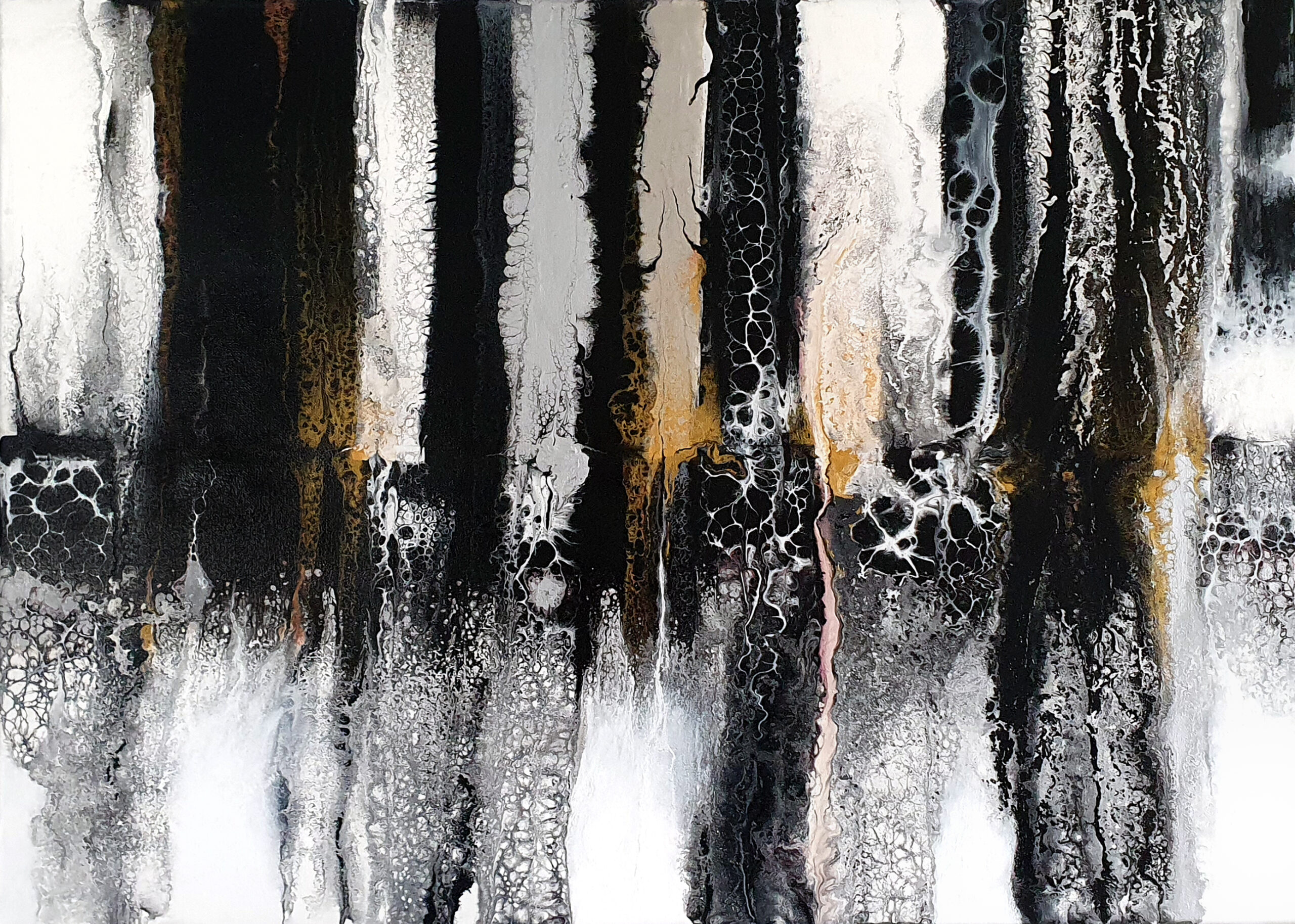 """""""earth"""", acrylic pouring by Calla Hueppe, Claudie Hamburg, Claudie Hüppe"""