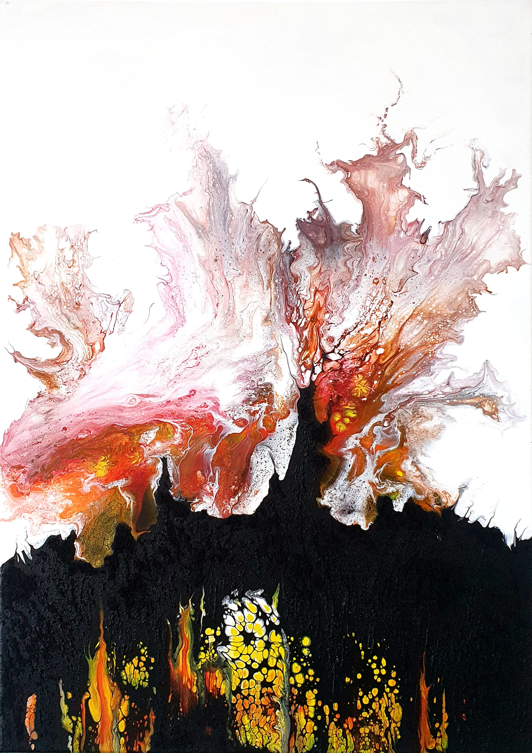 """""""Tanz"""", acrylic pouring by Calla Hueppe, Claudie Hamburg, Claudie Hüppe"""